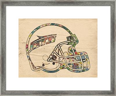 New York Jets Poster Art Framed Print