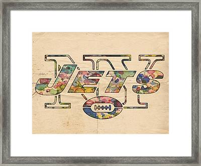 New York Jets Poster Vintage Framed Print