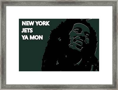 New York Jets Ya Mon Framed Print