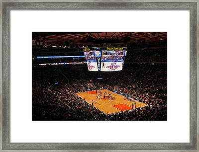 New York Knicks Framed Print by Juergen Roth