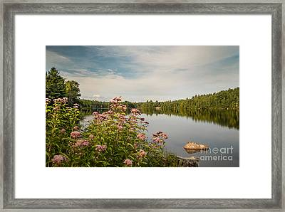 Framed Print featuring the photograph New York Lake by Debbie Green