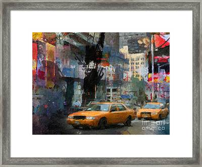 New York Lights Framed Print