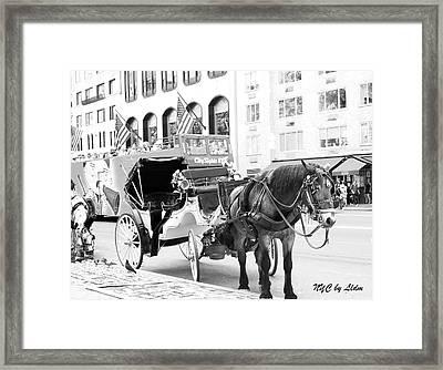 New York Framed Print by Lorna Maza