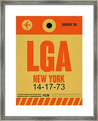 New York Luggage Poster 1 Framed Print