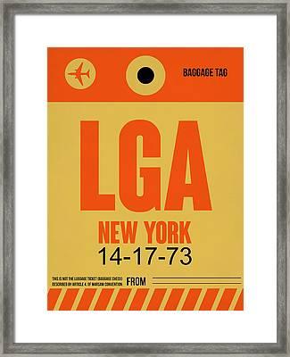 New York Luggage Poster 1 Framed Print by Naxart Studio
