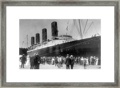 New York Lusitania, 1907 Framed Print