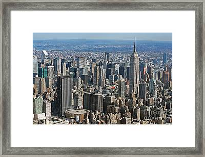 New York Manhattan Areal View  Framed Print by Lars Ruecker