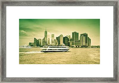 New York Metropolitan Framed Print by Nick Mares