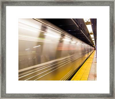 New York Metropolitan Underground Transportation Framed Print by Nick Mares