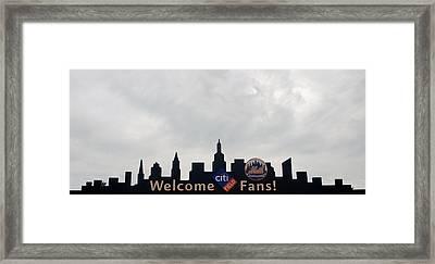 New York Mets Skyline Framed Print