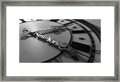 New York Minute Clock Hands Framed Print