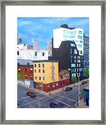 New York Moment Framed Print