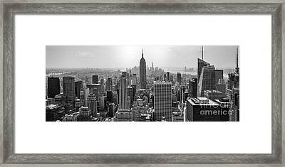 New York Moody Skyline  Framed Print