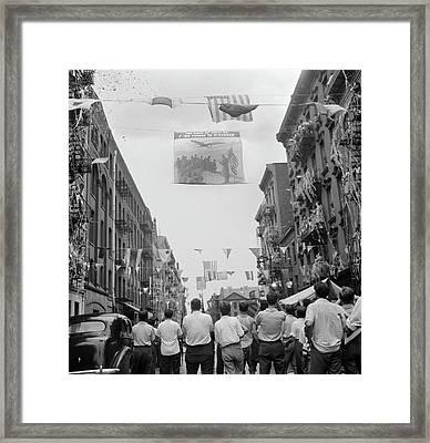 New York Mott Street, 1942 Framed Print