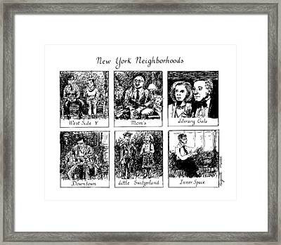 New York Neighborhoods Framed Print