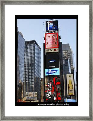 Framed Print featuring the photograph New York New York by B Wayne Mullins