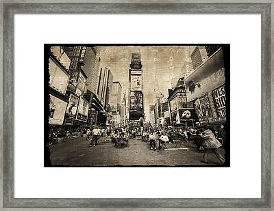 Framed Print featuring the photograph New York New York by Barbara Manis