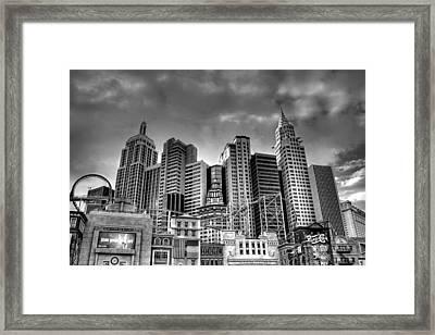 New York New York Black And White Framed Print