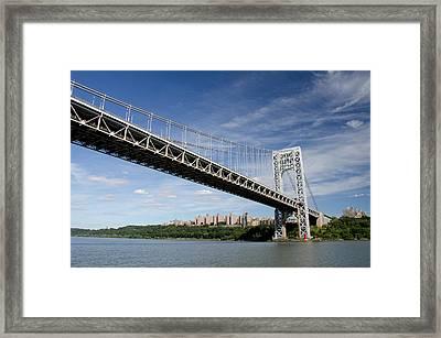 New York, New York, Hudson River Framed Print