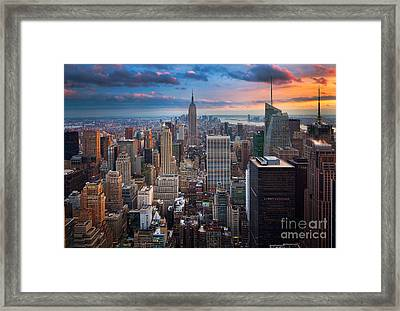 New York New York Framed Print by Inge Johnsson