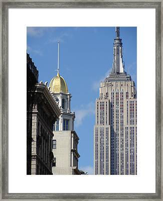 Framed Print featuring the photograph New York New York by Ira Shander