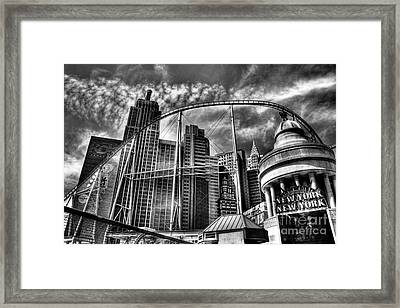 New York New York Las Vegas Framed Print