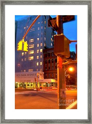 New York Night Framed Print by Corey Garcia