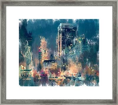 New York Night Lights Framed Print by Yury Malkov