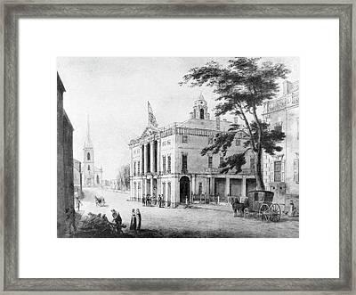 New York Old City Hall Framed Print by Granger