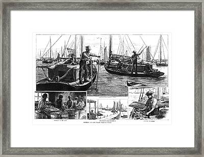 New York Oysters, 1886 Framed Print