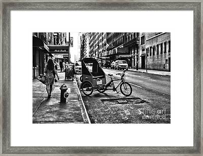 New York Park South  Framed Print by Paul Ward