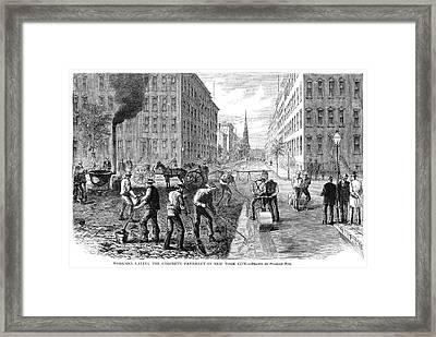 New York Pavement, 1869 Framed Print by Granger