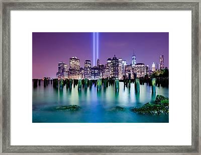 New York Pier Tribute Framed Print