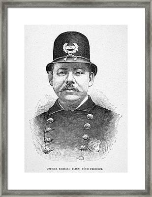 New York Police Officer Framed Print by Granger