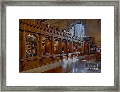New York Public Library Book Returns Framed Print by Susan Candelario