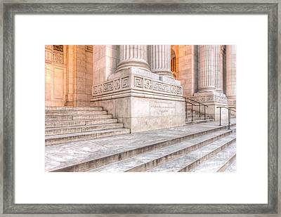 New York Public Library Columns And Stairs IIi Framed Print