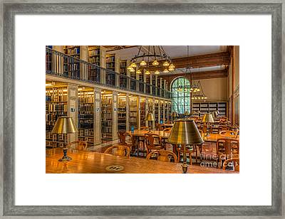 New York Public Library Genealogy Room I Framed Print by Clarence Holmes