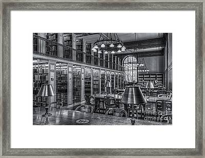 New York Public Library Genealogy Room II Framed Print by Clarence Holmes