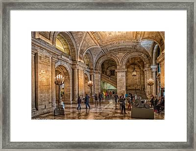 New York Public Library In New York City Framed Print