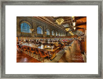 New York Public Library Main Reading Room II Framed Print by Clarence Holmes