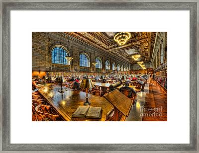 New York Public Library Main Reading Room IIi Framed Print by Clarence Holmes