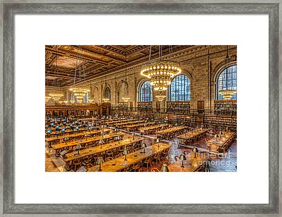 New York Public Library Main Reading Room Ix Framed Print by Clarence Holmes
