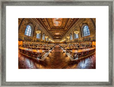 New York Public Library Main Reading Room Vii Framed Print by Clarence Holmes