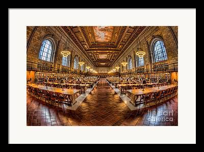 Rose Main Reading Room Framed Prints