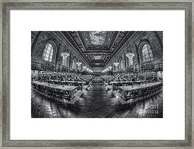 New York Public Library Main Reading Room Viii Framed Print by Clarence Holmes