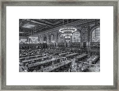 New York Public Library Main Reading Room X Framed Print by Clarence Holmes