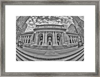 New York Public Library - Nypl Bw Framed Print