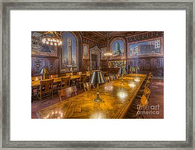 New York Public Library Periodicals Room I Framed Print by Clarence Holmes