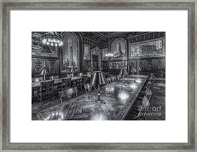 New York Public Library Periodicals Room II Framed Print by Clarence Holmes