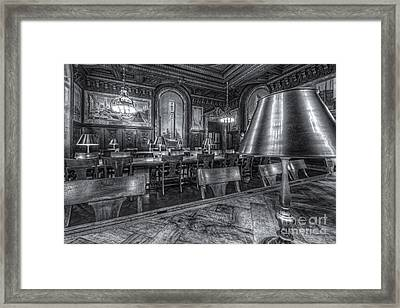 New York Public Library Periodicals Room Iv Framed Print